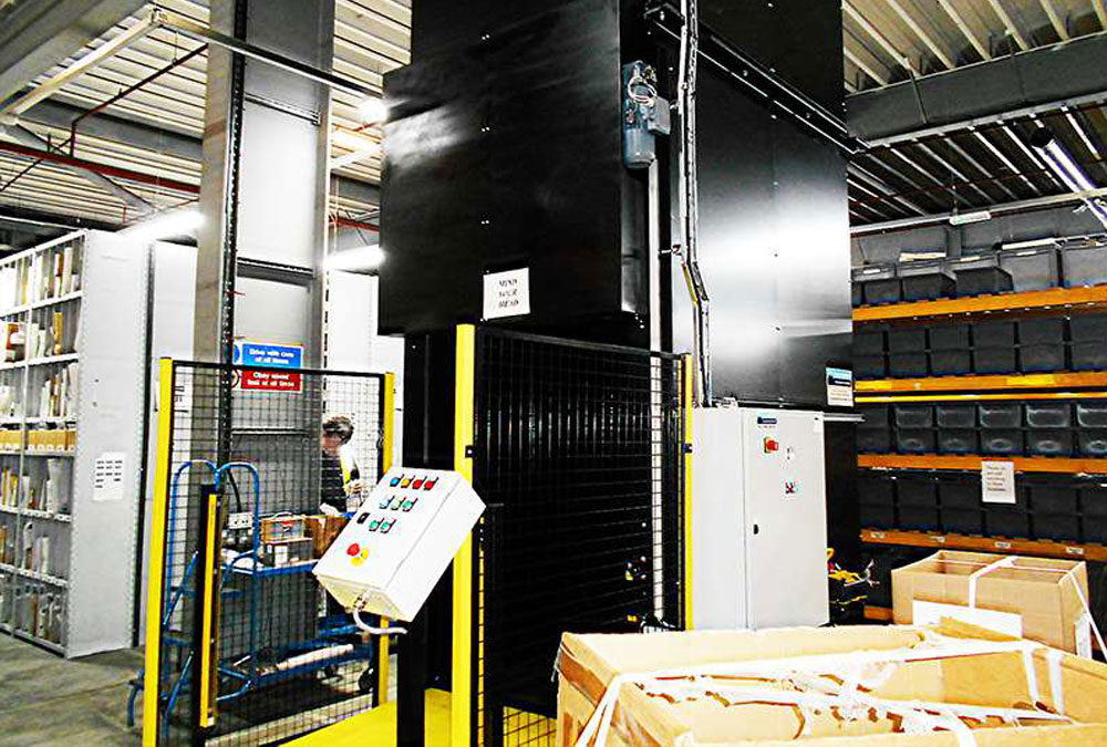 Blackstar design and install bespoke pallet elevator for a major high street retailer